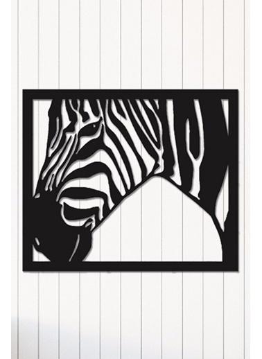 Angemiel Home Zebra Metal Duvar Tablosu Siyah
